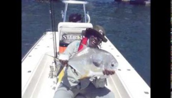 "Tarpon and Permit fishing with Clarence ""Big Man"" Clemons on board ""Flat Out"" in the Florida Keys"
